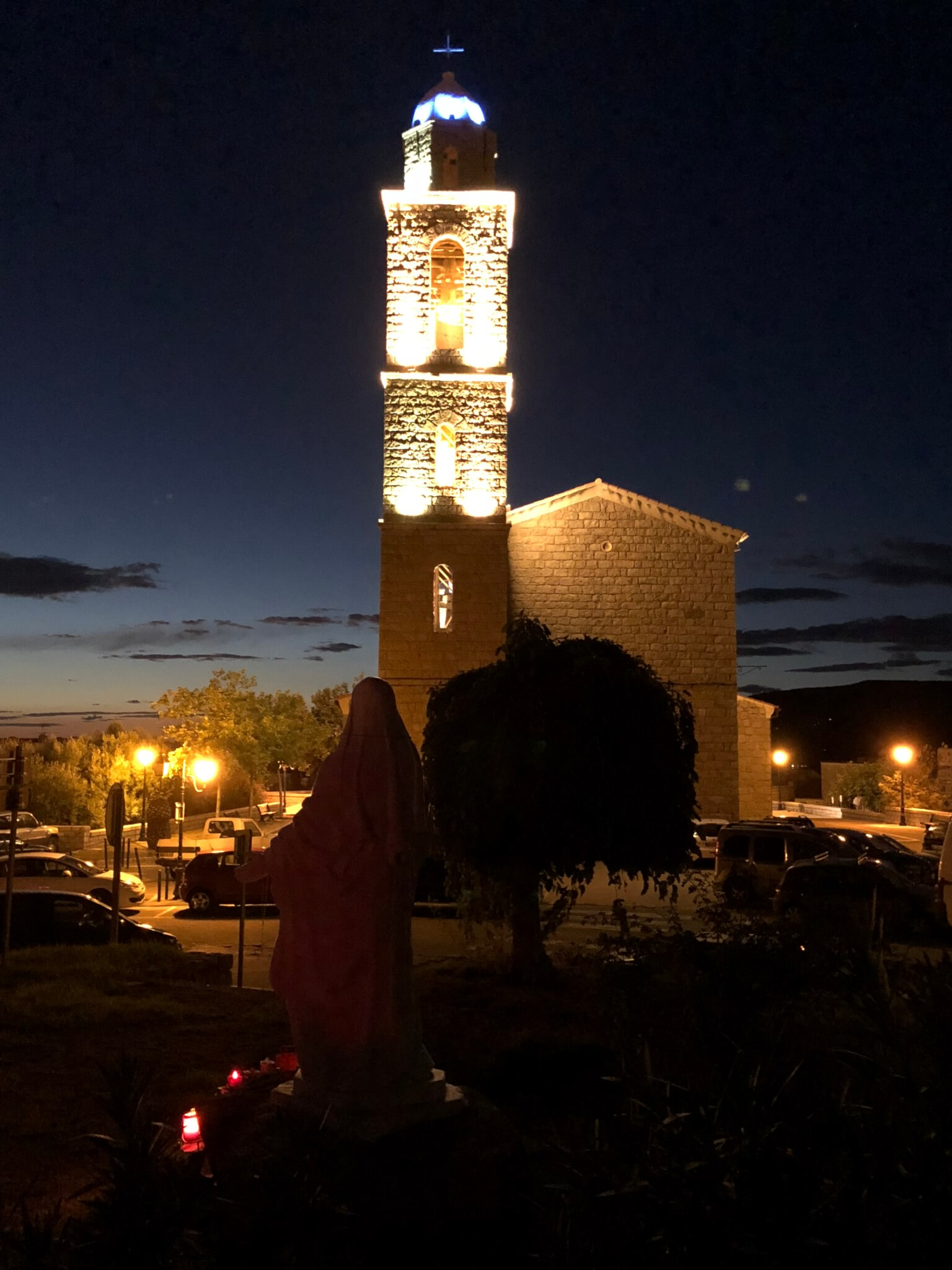 Eglise Propriano nuit